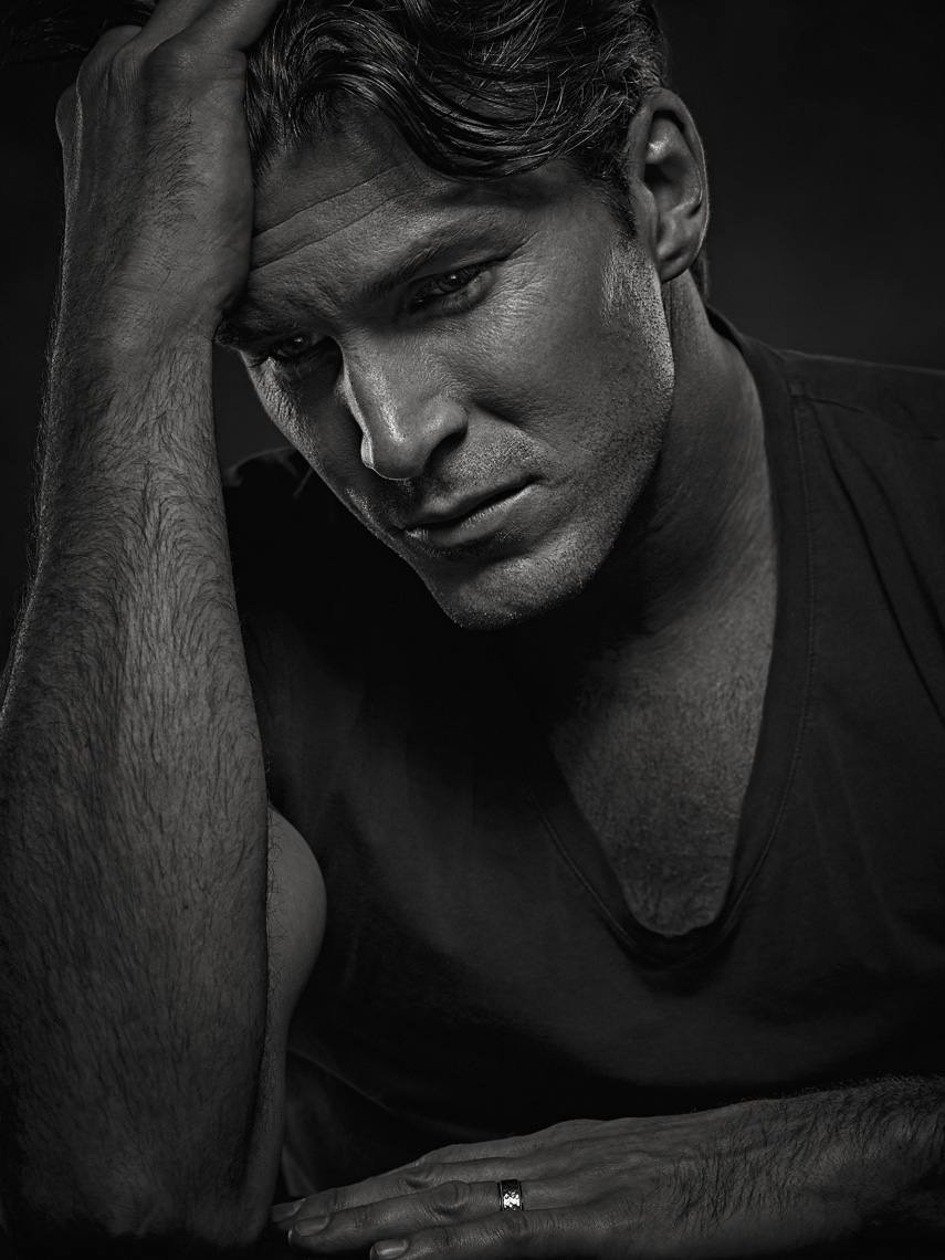 actor Christopher Russell in studio photographed by Vancouver celebrity photographer Waldy Martens