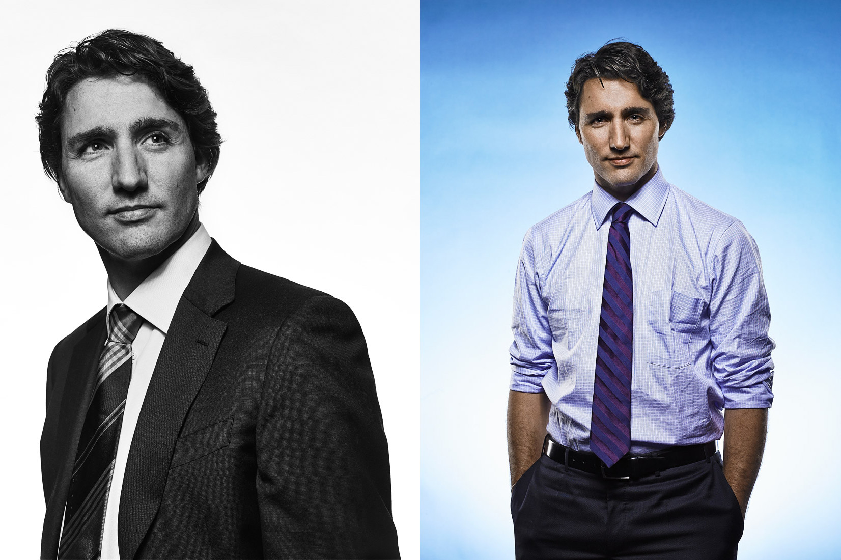 Prime Minister of Canada Justin Trudeau photographs by Vancouver Celebrity  Portrait photographer