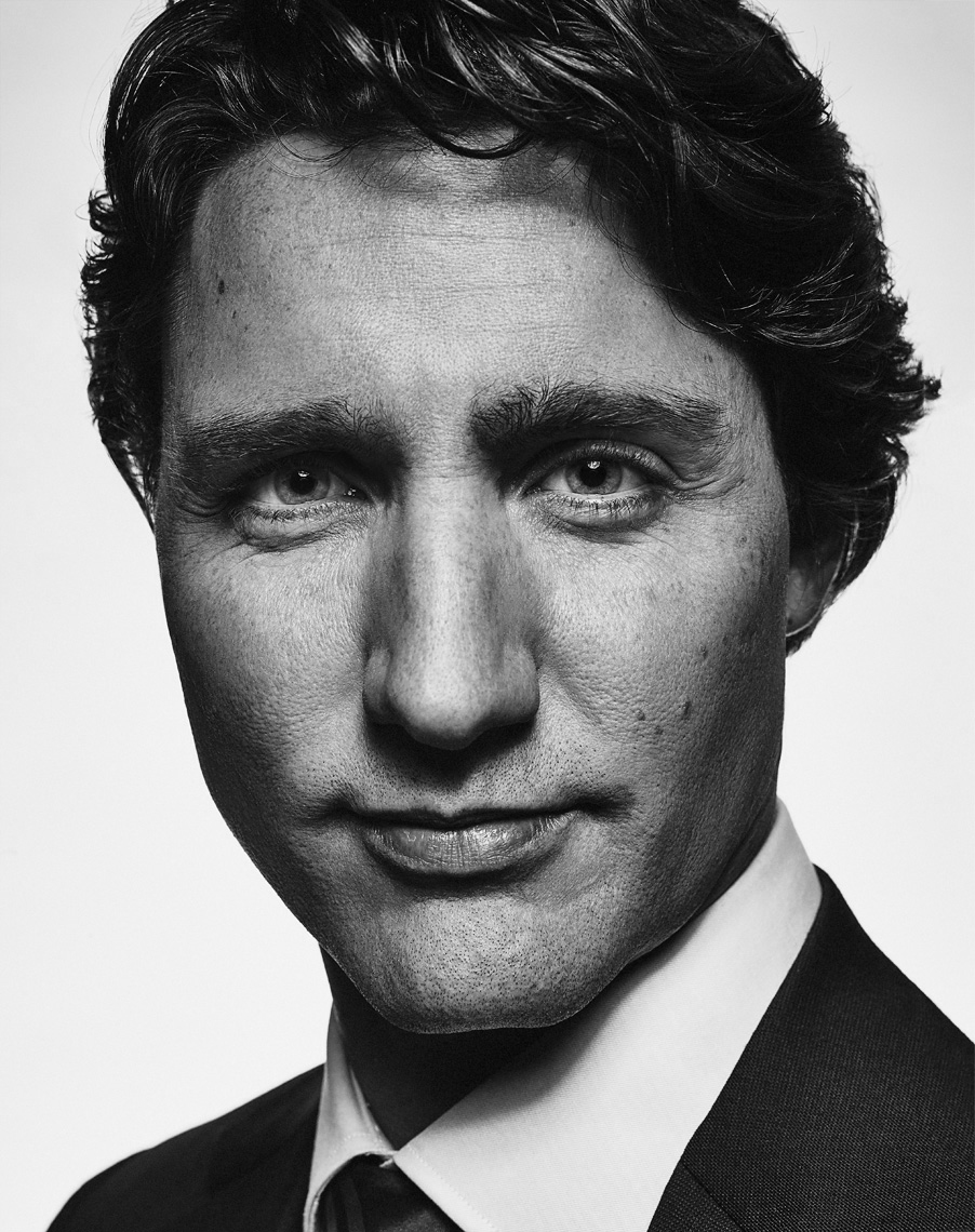 Prime Minister of Canada Justin Trudeau Portrait by Vancouver Celebrity Editorial  Photographer