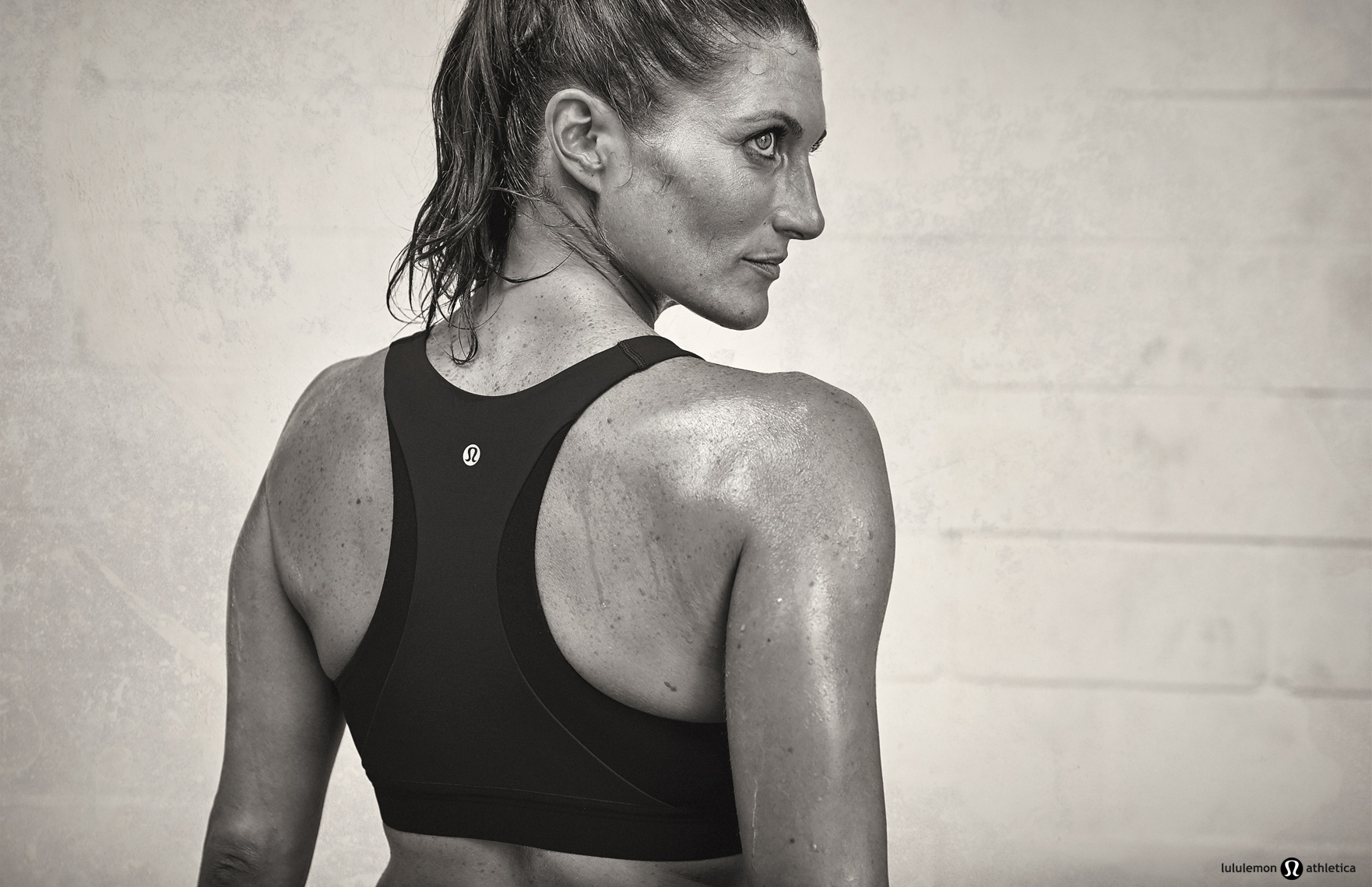 lululemon advertising campaign with female athlete wearing sportswear by Vancouver advertising photographer Waldy Martens