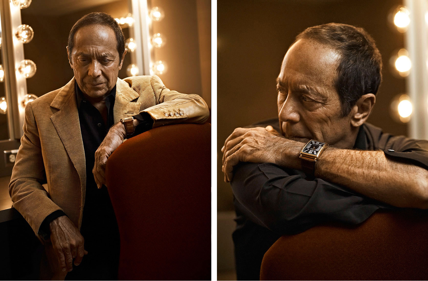Singer Songwriter Paul Anka post concert portraits by Vancouver Celebrity photographer