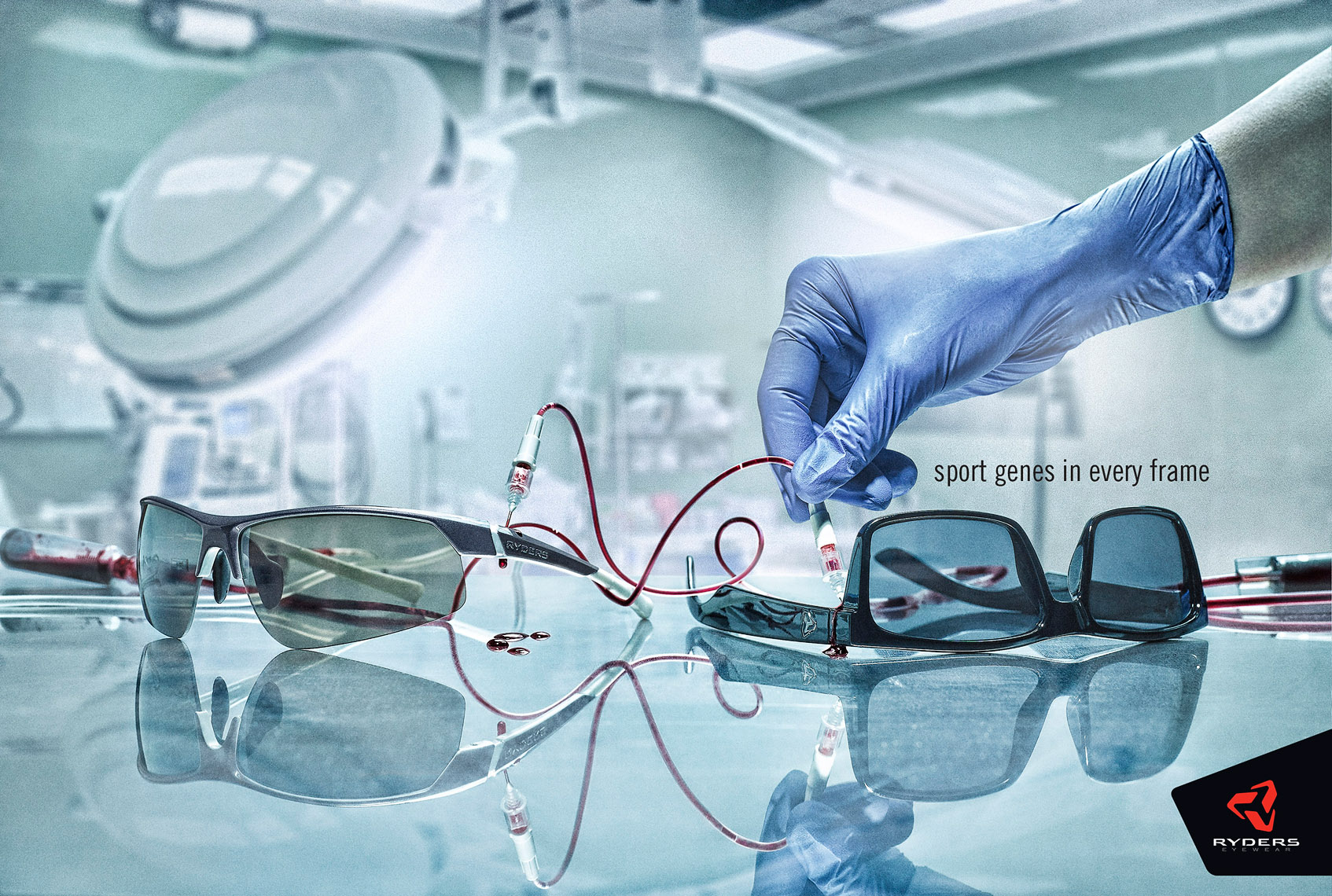 ryders eyewear hospital operating room sport genes blood transfusion ad