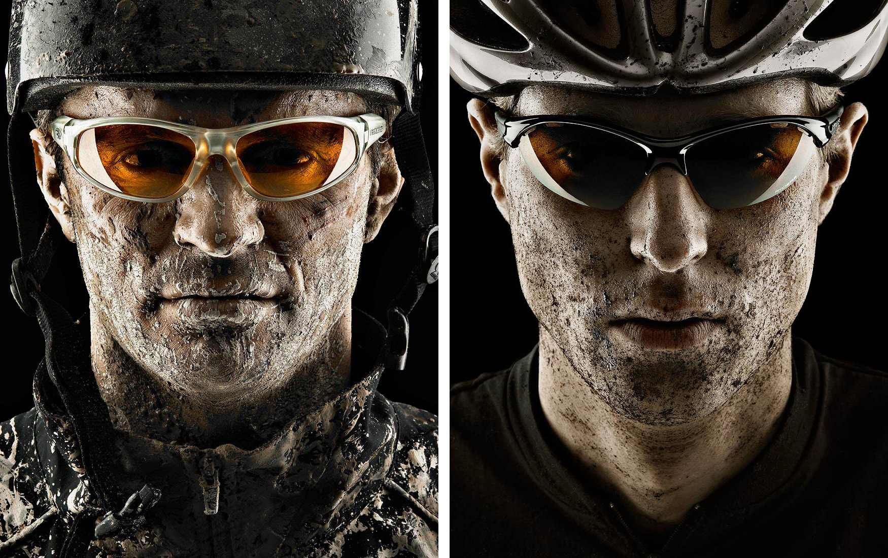 Ryders Eyewear sponsored athletes wearing protective sunglasses photoshoot