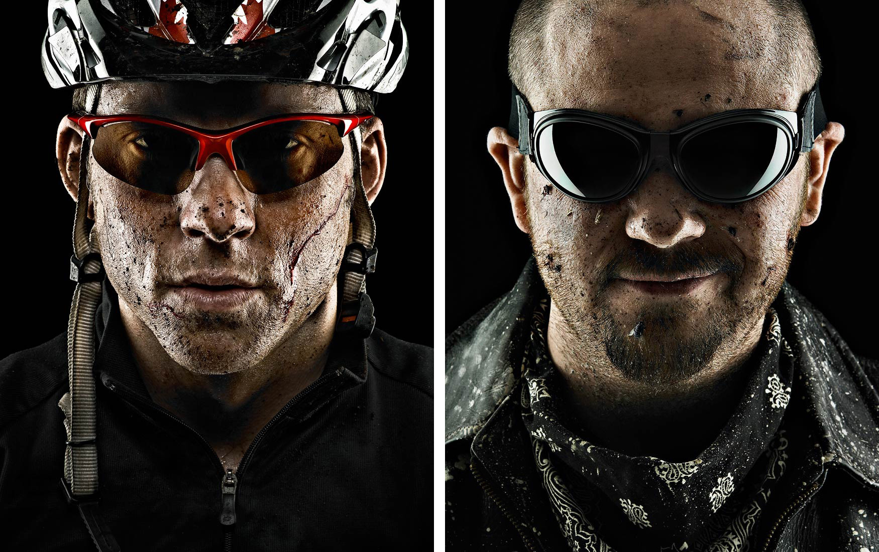 Athletes wearing protective eyewear